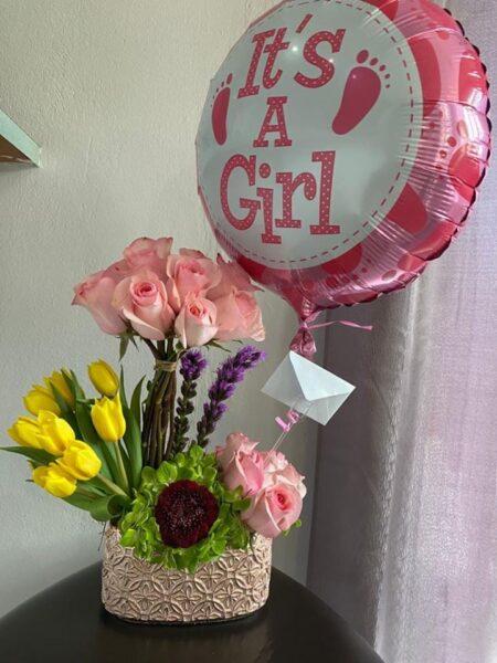 arreglo floral baby shower