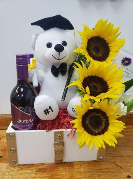 arreglo floral para graduando
