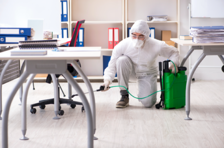 Servicios de desinfección comercial e industrial.